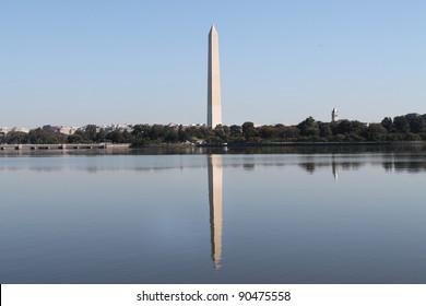 Washington Monument Reflection on Tidal Basin, Washington DC