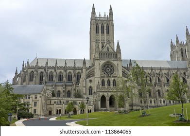 Washington National Cathedral, the sixth largest Gothic cathedral in the world, USA