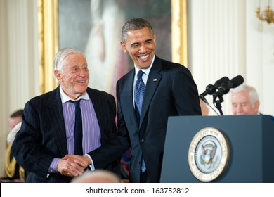 Washington -Â?Â? November 20: Ben Bradlee receives the Presidential Medal of Freedom at a ceremony at The White House on November 20, 2013 in Washington, DC.