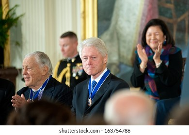 Washington - November 20: Former President Bill Clinton after receiving the Presidential Medal of Freedom at a ceremony at The White House on November 20, 2013 in Washington, DC.