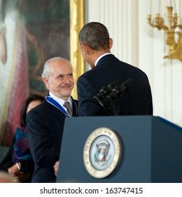 Washington -Â?Â? November 20: Mario Molina receives the Presidential Medal of Freedom at a ceremony at The White House on November 20, 2013 in Washington, DC.