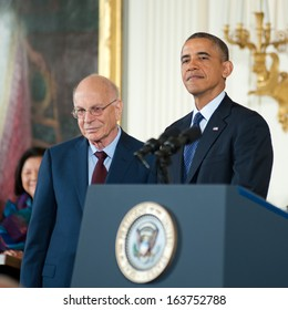 Washington - November 20: Psychologist Daniel Kahneman receives the Presidential Medal of Freedom at a ceremony at The White House on November 20, 2013 in Washington, DC.