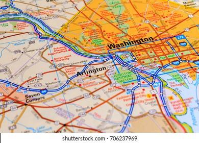 Washington on the map