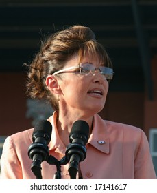 WASHINGTON, PA -- AUGUST 29, 2008: Governor Sarah Palin in Washington, Pennsylvania on August 30, 2008