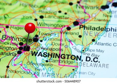 Washington Dc On The Map Washington D C Map Stock Photos, Images & Photography | Shutterstock