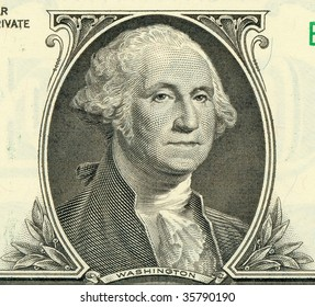 Washington portrait from one dollar banknote (high definition)