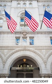 WASHINGTON â?? SEPTEMBER 12:  The Trump International Hotel in Washington DC on September 12, 2016, the day it opened for business.