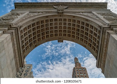 washington square arch detail new york city