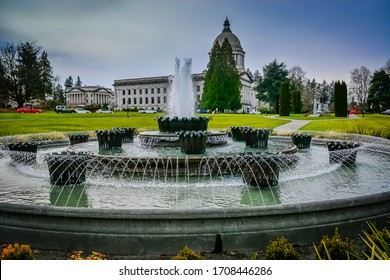Washington State Capitol Campus in Olympia, WA during at beginning of Covid-19 crisis.