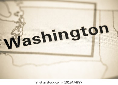Washington. Washington State on a map.