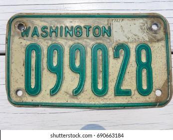 Washington state vintage motorcycle license plate