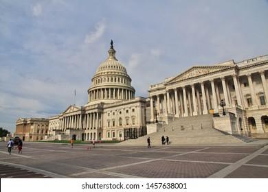 Washington / United States - 04 Jul 2017: Capitol in Washington, United States