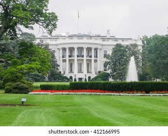 WASHINGTON, UNITED STATES - AUGUST 13, 2008 -  view of the historic White House residence of the President of the United States Of America free world