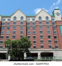 WASHINGTON, UNITED STATES - JUNE 14, 2013: Homewood Suites by Hilton all-suite hotel in Washington. As of 2012, there were 310 Homewood Suites locations with 75 more under development.