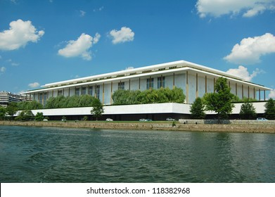 WASHINGTON, USA - AUG 16: the John F Kennedy Center on August 16, 2012, in Washington DC viewed from the Potomac River. It is the busiest performing arts facility in the United States.