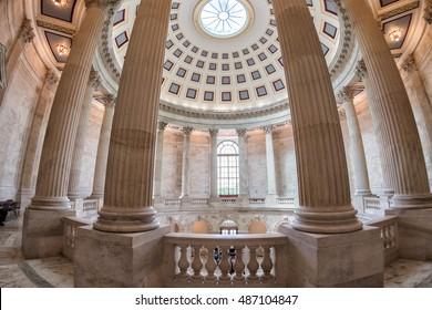 WASHINGTON, USA  - June 23, 2016 - Russel building senate capitol in washington dc interior view