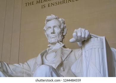Washington, USA - June 23, 2017: Lincoln Memorial, reminding that all people should be free