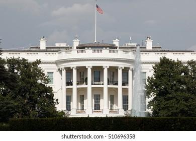 Washington, USA - Novemver 03, 2016: The White House knows that soon the new president.