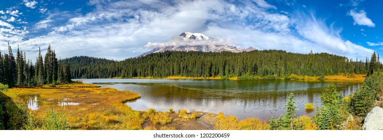 Washington, USA: Reflection Lakes near Paradise Area on Mount Rainier