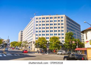 WASHINGTON, USA - SEP 24, 2015: Architecture of Washington DC.  Washington is the capital of the United States