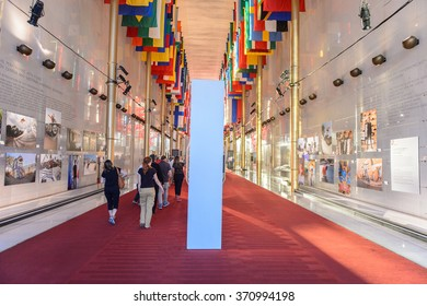 WASHINGTON, USA - SEP 24, 2015: John F. Kennedy Center for the Performing Arts. The Center produces and presents theater, dance, ballet, orchestral, chamber, jazz, popular, and folk music