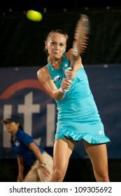 WASHINGTON-AUGUST 3: Magdalena Rybarikova (SVK) defeats Sloane Stephens (USA, not pictured) at the Citi Open semifinals on August 3, 2012 in Washington.