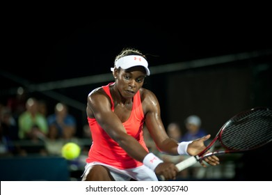 WASHINGTON-AUGUST 3:Sloane Stephens (USA) falls to Magdalena Rybarikova (SVK, not pictured) at the Citi Open semifinals on August 3, 2012 in Washington.