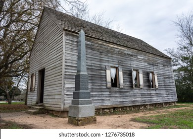 Washington-on-the-Brazos, Texas, United States of America - December 30, 2016. Replica of Independence Hall in Washington-on-the-Brazos, where the Declaration of Texas Independence was signed in 1836.