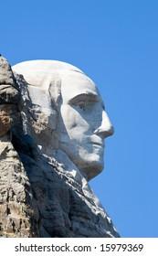 Washington's profile at Mount Rushmore