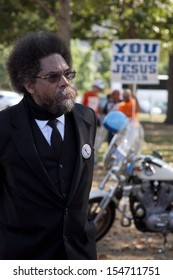 WASHINGTON-SEPT 11: Princeton University professor and Civil rights leader Cornel West stands at the rally once billed as the Million Muslim March on September 11, 2013 in Washington, DC.