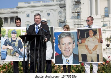 WASHINGTON-SEPT 11:Rep. Steve Stockman (R-TX) speaks at the 911 Justice for Benghazi rally at the Capitol on September 11, 2013 in Washington DC. The event pushed for House Res. 36 and House Res. 306.