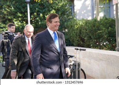 Washington/USA – October 30, 2018: Paul Manafort leaving the E. Barrett Prettyman United States Courthouse after being indicted on October 30, 2018.
