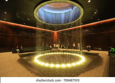 WASHINGTON,USA;OCT 21:inside of National Museum of African American History and Culture, was opened in this year in Washington on 21 October 2016. It contain 37000 objects related to african american