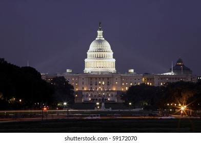 WASHINTON, DC - AUGUST 15: Photo of United States Capitol building taken August 15, 2007 in Washinton DC.
