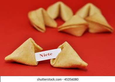 """A washout fortune cookie. """"Nothing"""""""