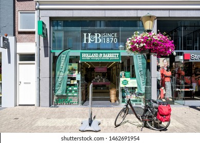 WASSENAAR, THE NETHERLANDS - JULY 3, 2019: Holland & Barrett store. Holland & Barrett is a chain of health food shops with over 1,300 stores in 16 countries.