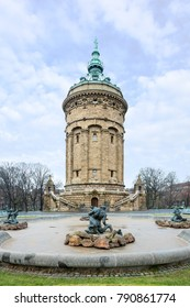 Wasserturm, an Old Water Tower in Mannheim, Germany