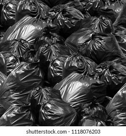 Waste background garbage bag black bin, Garbage dump, Bin,Trash, Garbage, Rubbish, Plastic Bags pile junk garbage Trash texture