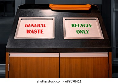 Waste Bin Segregates General Waste and Recyclable Waste