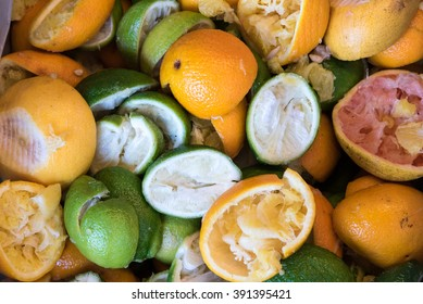 The waste of fruit peels after juice process