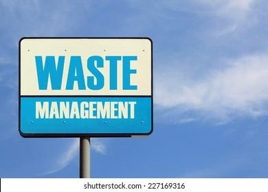 Waste Management Sign