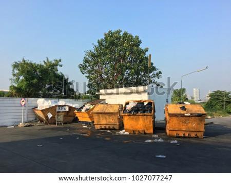 Car park behind dump site