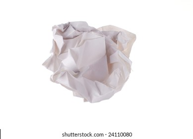 waste paper on white background