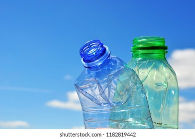 waste  plastic bottle background,  environmental background