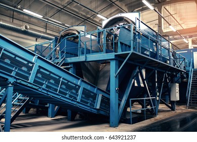 Waste processing plant. Recycling and storage of waste for further disposal. Business for sorting and processing of waste.