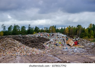 waste recycling sorting in Ozolaines parish, Rezekne county, Latvia 07.10.2017.