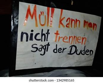 Waste Separation funny poster - Hamburg, Hamburg, Germany 02/20/2019