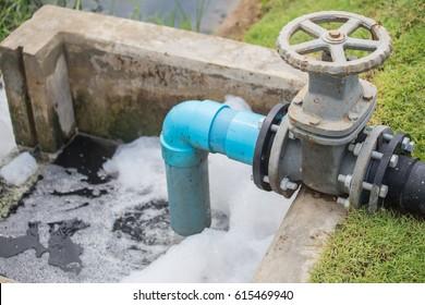 Waste water discharge valve.