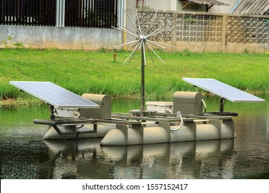 Waste water treatment boat, sun energy, clean energy, environmentally friendly in nature