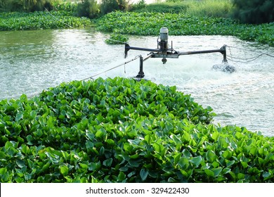 Waste water treatment by aerator